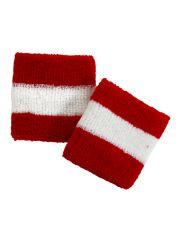 Schweißbänder rot weiß