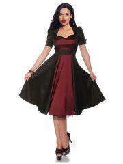 Petticoat Rockabilly Kleid schwarz burgund
