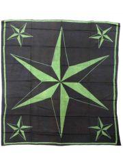 Tagesdecke Stern schwarz grün 220 x 220 cm