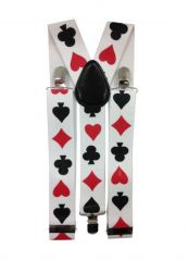 Hosenträger Spielkarten weiß