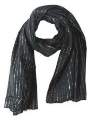 Lurex Tuch schwarz