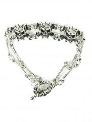 Heavy Metal Armband 3 Skulls