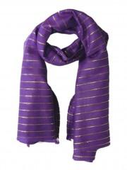 Lurex Tuch violett und gold