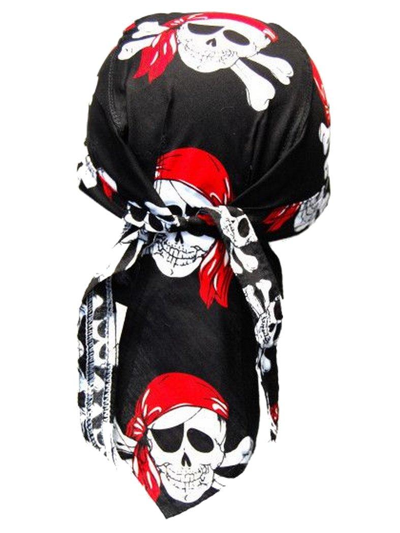 bandana cap piraten rot schwarz auch zandana kopftuch. Black Bedroom Furniture Sets. Home Design Ideas