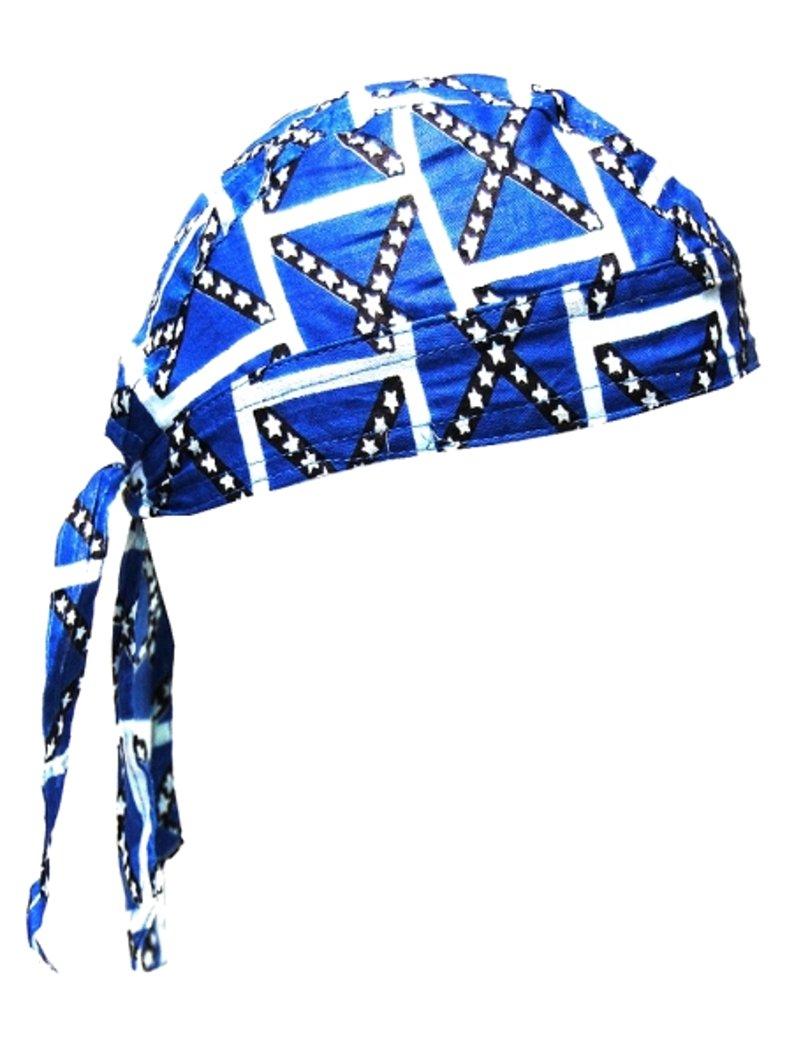 bandana cap kinder blau wei auch zandana kopftuch. Black Bedroom Furniture Sets. Home Design Ideas