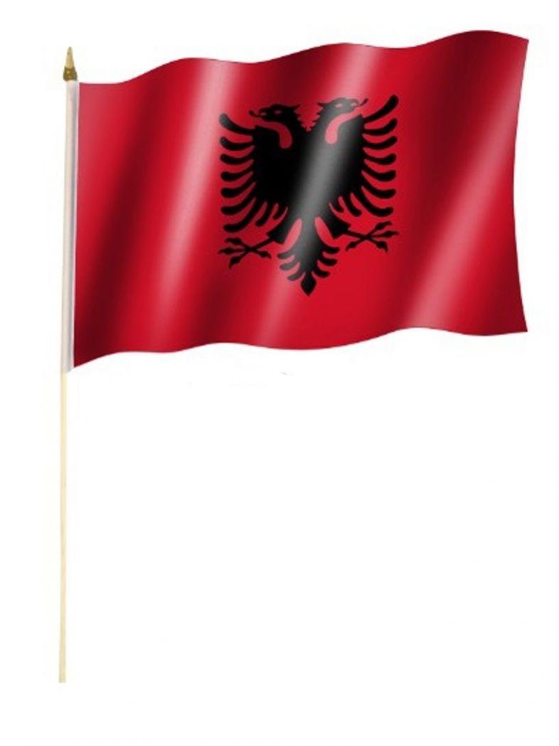 Stockfahne Albanien