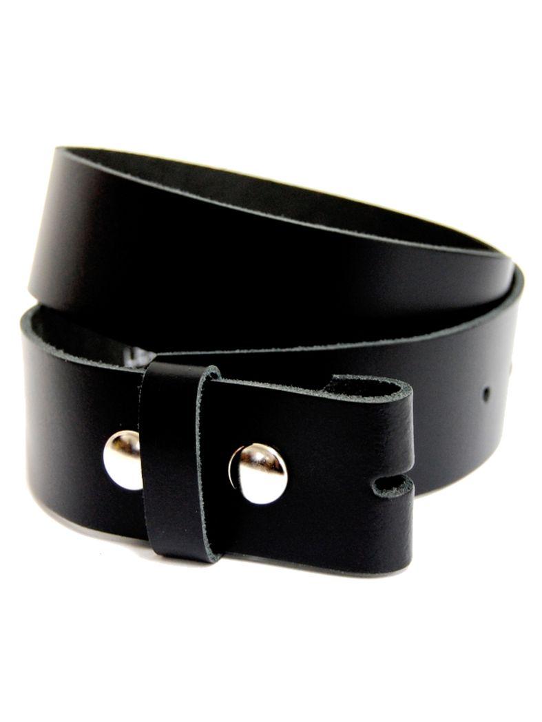 Leder Wechselgürtel schwarz 110 cm