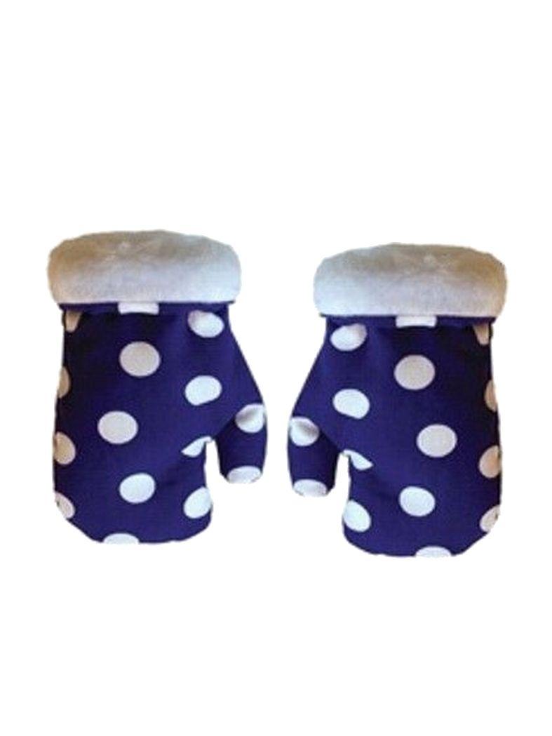 Baby Handschuhe lila mit weißen Punkten