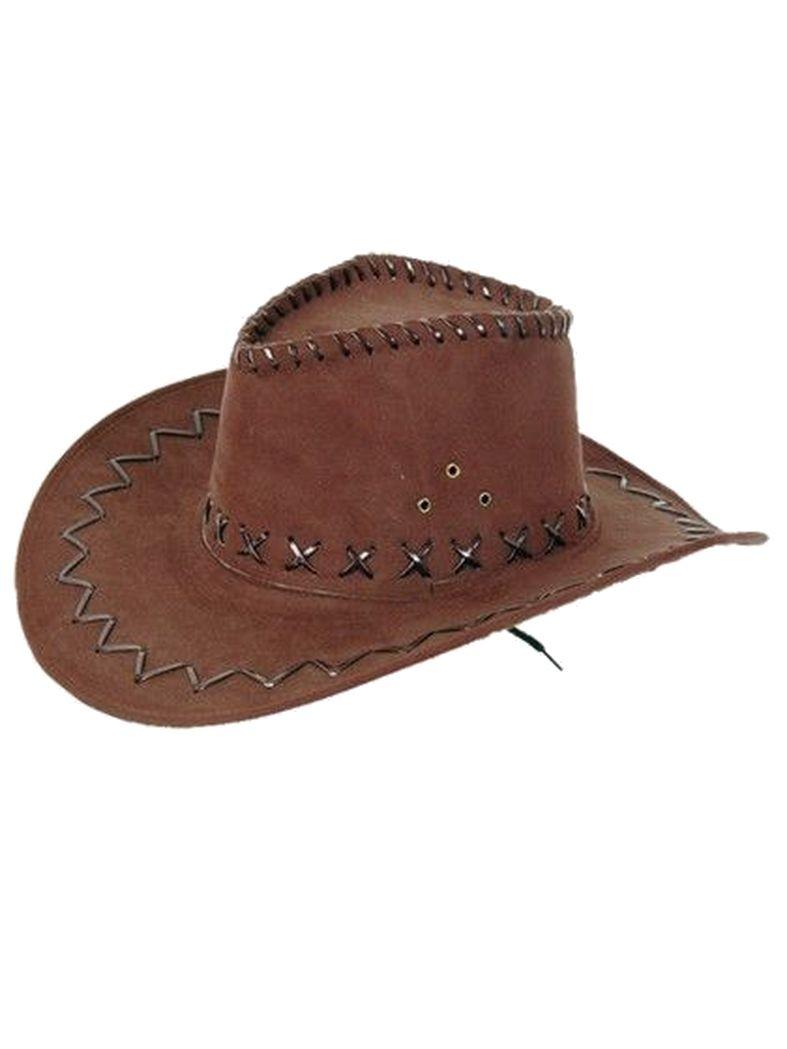 Cowboy Hut dunkelbraun
