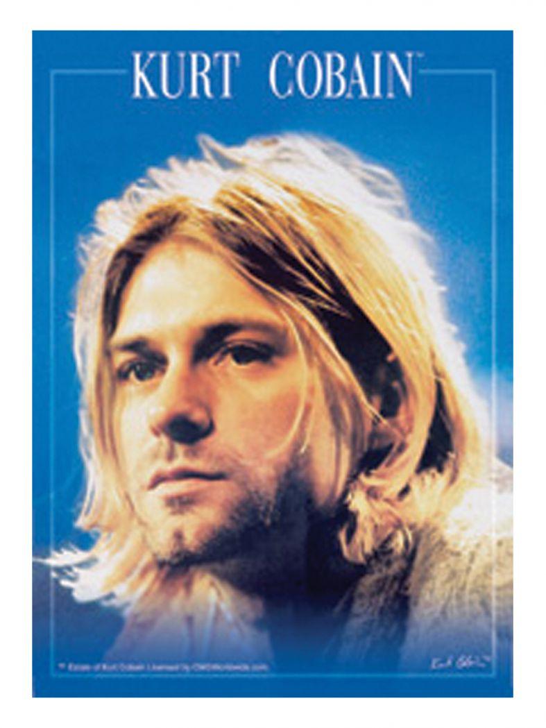 3 Kurt Cobain Face Postkarten