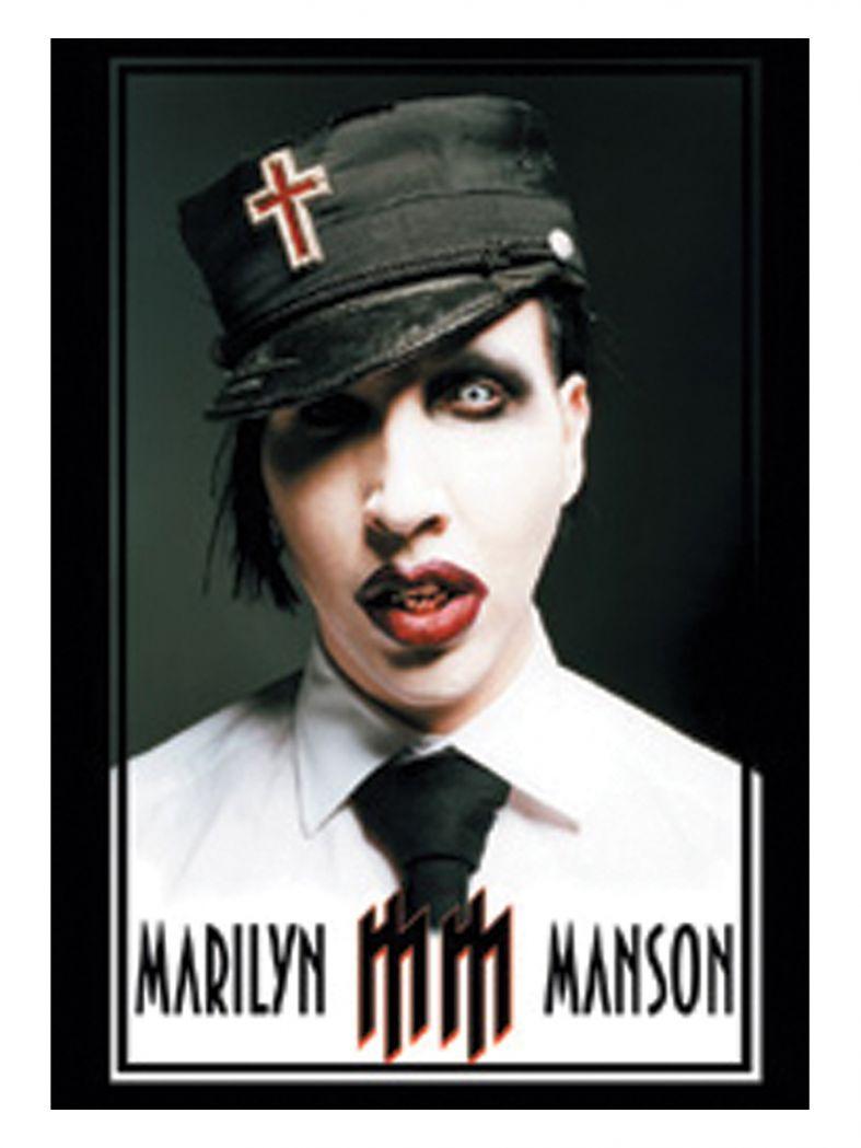 3 Marilyn Manson Face Postkarten