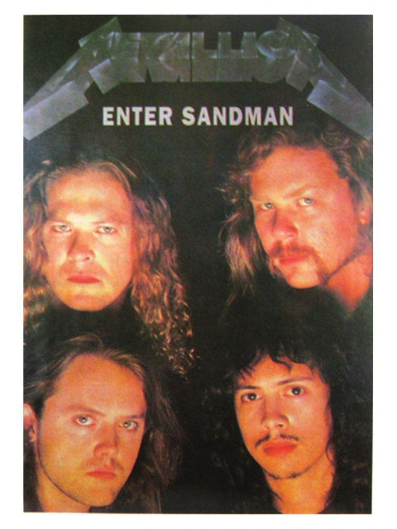 3 Metallica Enter Sandman Postkarten