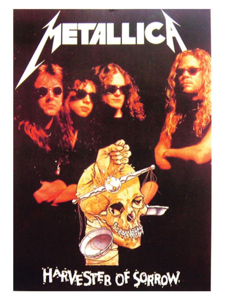 3 Metallica Harvester Postkarten