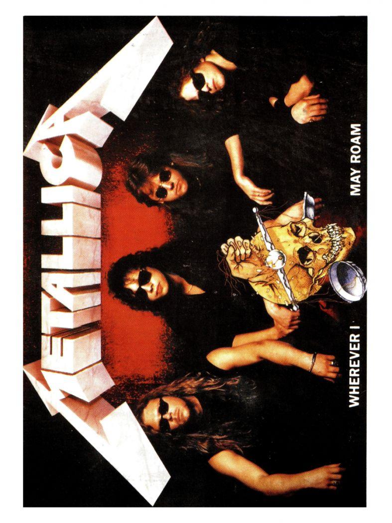 3 Metallica Wherever Postkarten