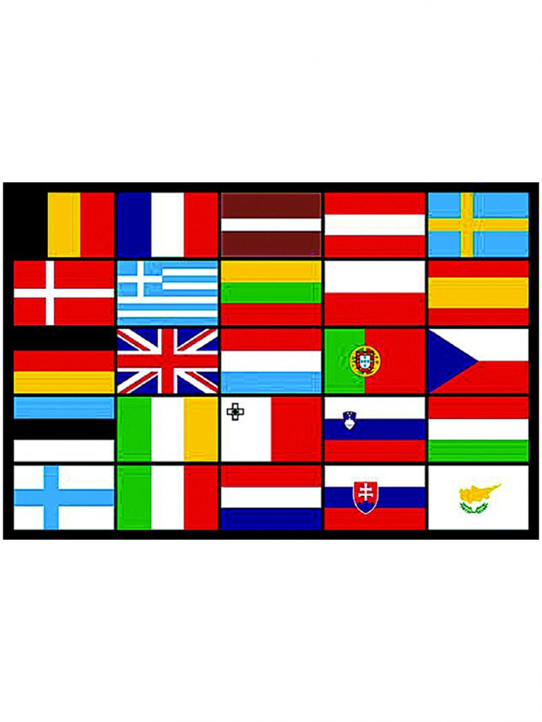 Fahne 25 Europa Staaten