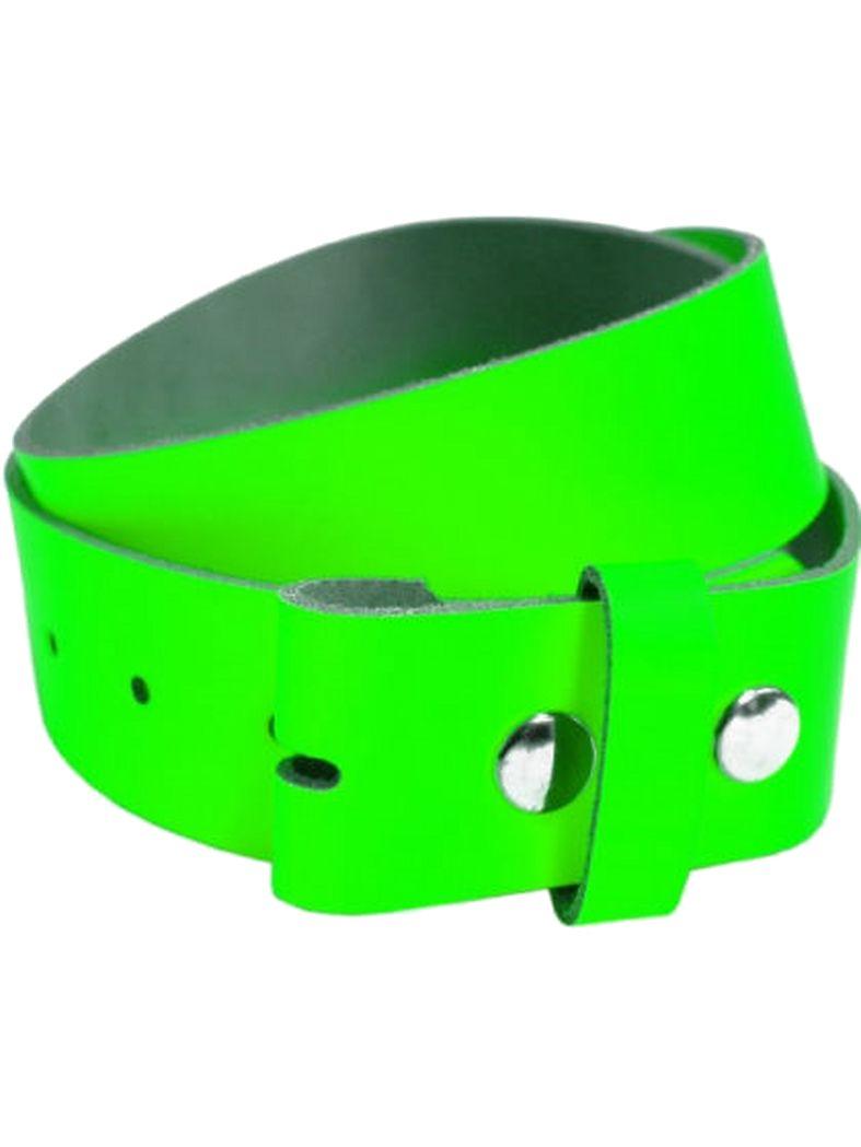 Leder Wechselgürtel grün