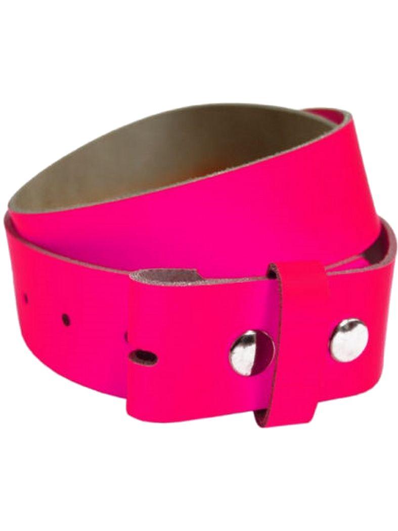 Leder Wechselgürtel pink