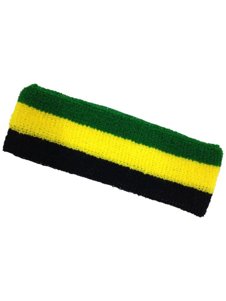 Stirnband schwarz gelb grün
