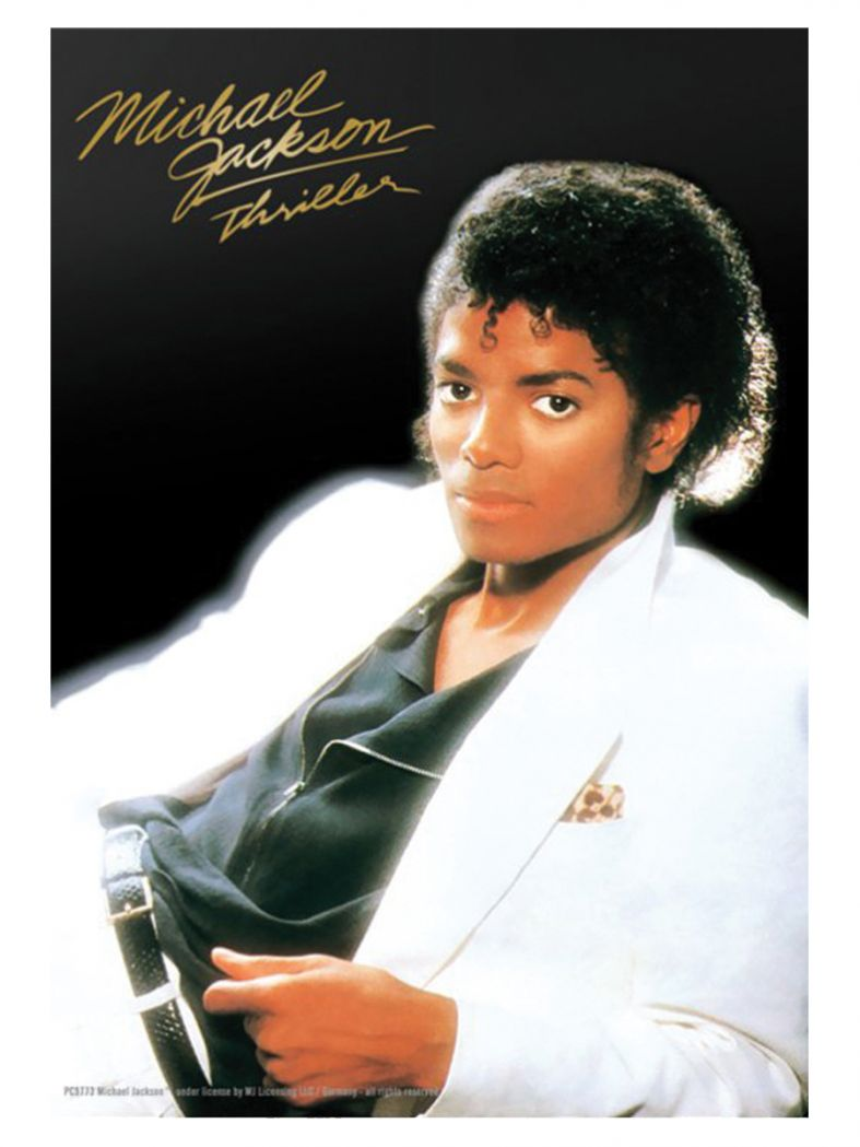 3 Michael Jackson Thriller Classic Postkarten