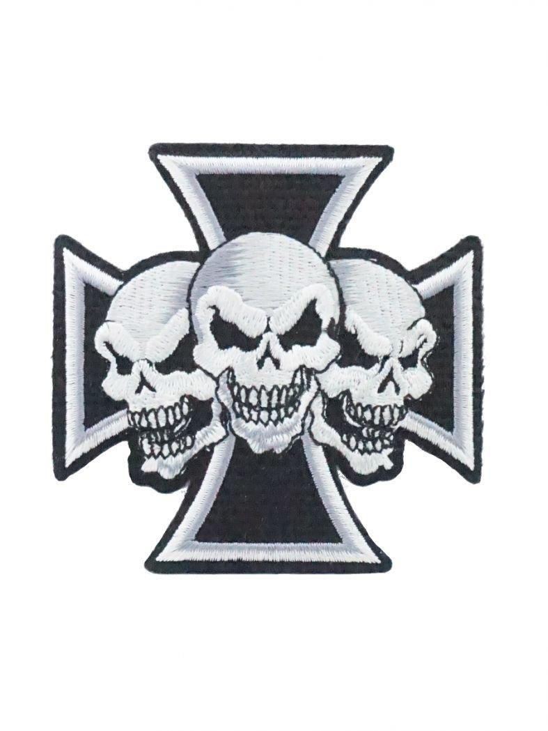Aufbügler Kreuz skull