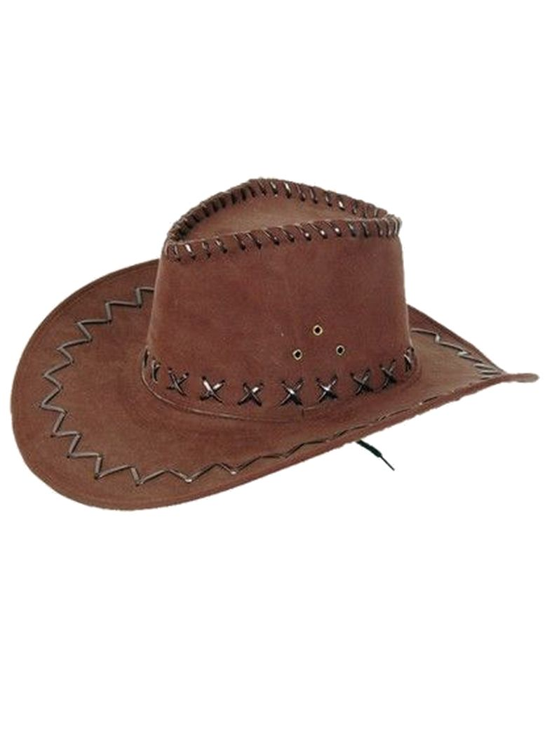 Kinder Cowboy Hut dunkelbraun