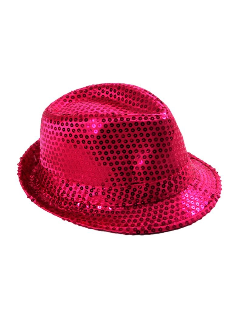 Clubstyle Party Hut rosa mit Pailletten