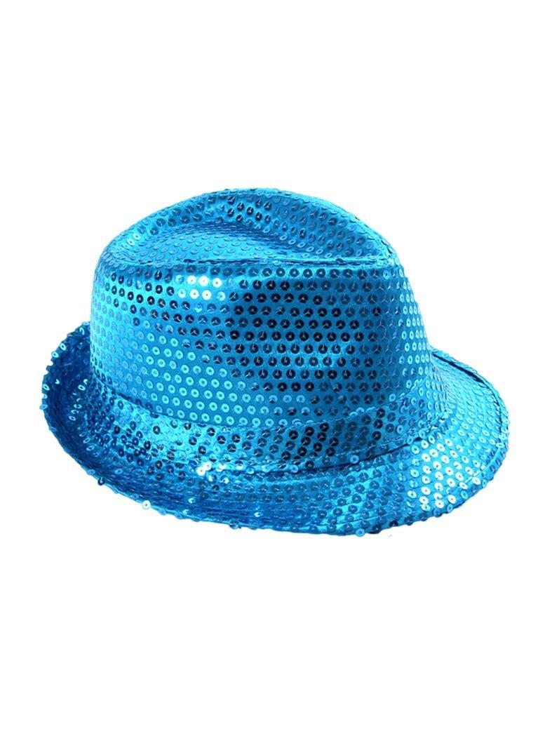 Clubstyle Party Hut blau mit Pailletten