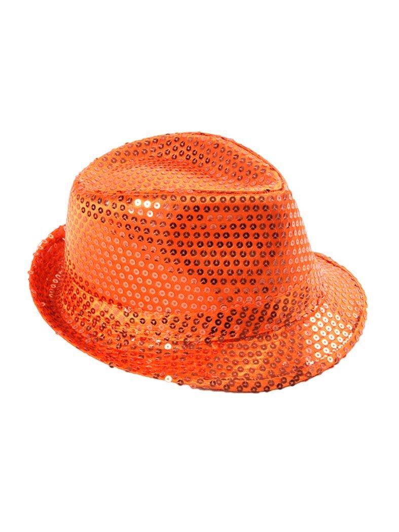 Clubstyle Party Hut orange mit Pailletten