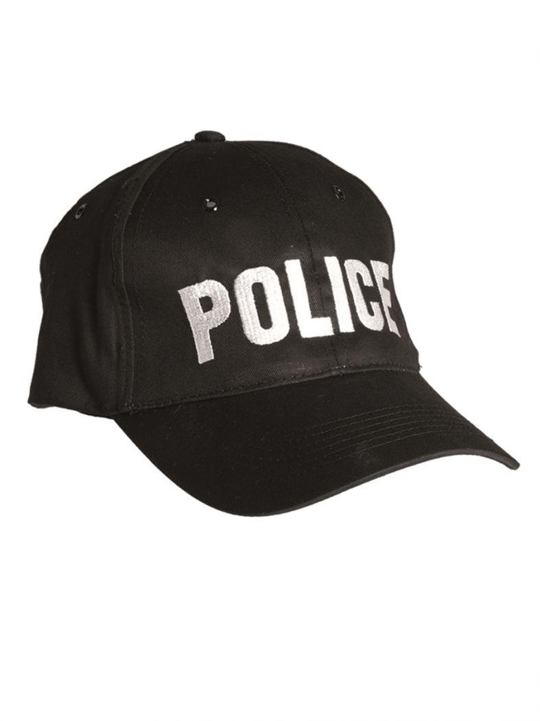 Baseball Cap Police schwarz