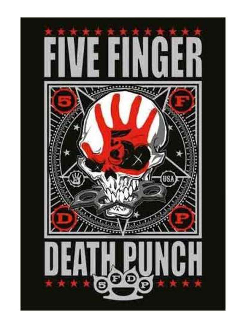 Five Finger Death Punch Poster Fahne
