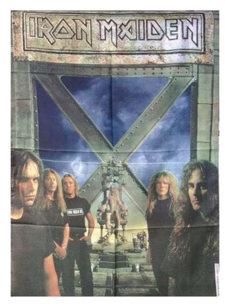 Iron Maiden Poster Fahne Faces