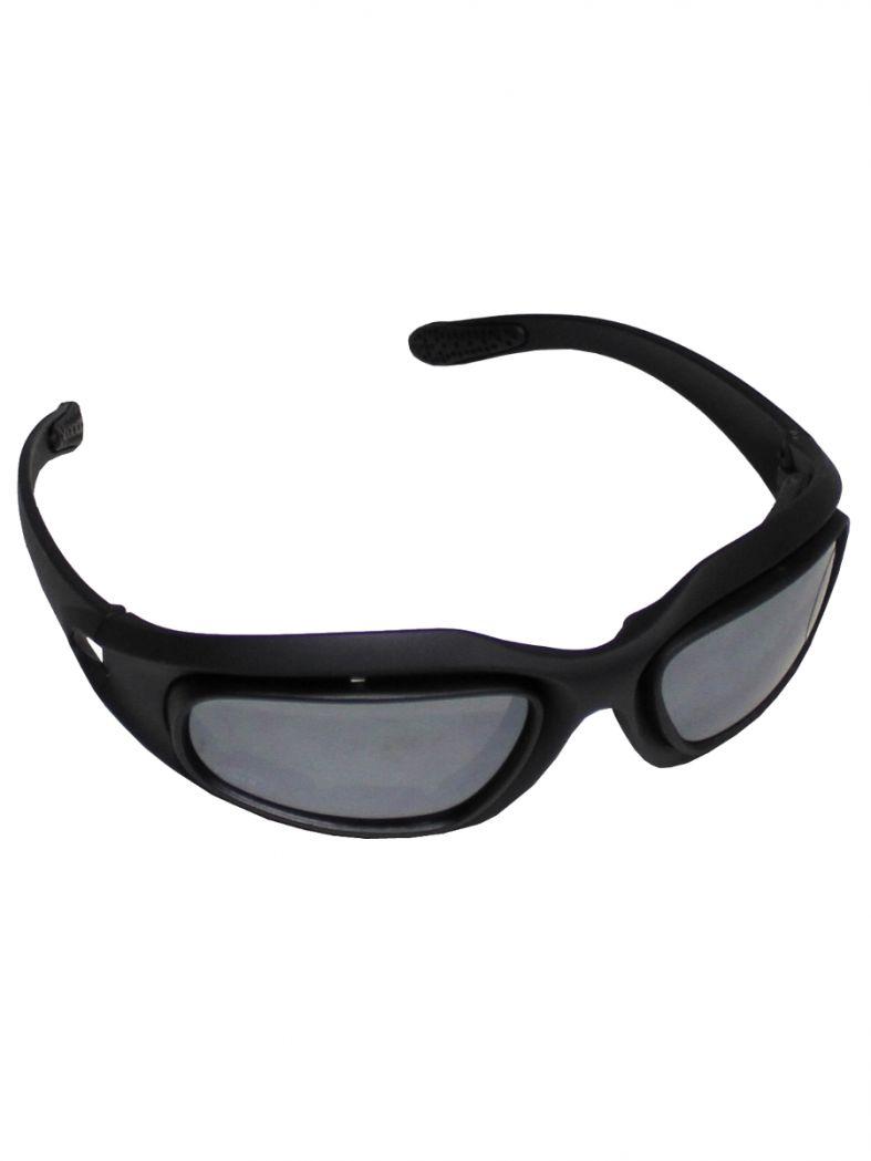 Sportbrille schwarz mit 3 Ersatzgläser