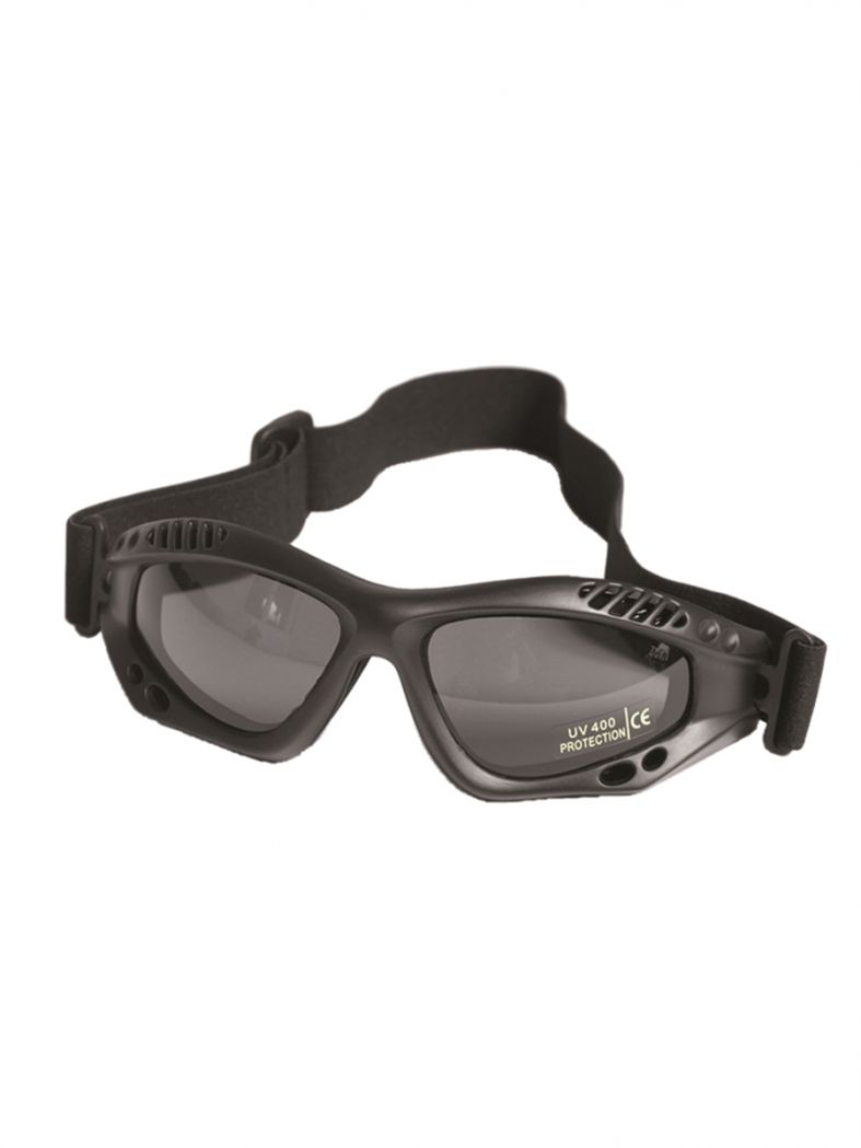 Motorrad Schutzbrille schwarz