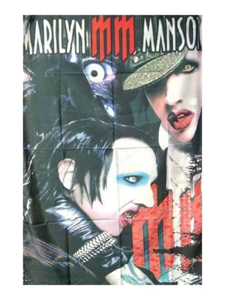 Marilyn Manson Poster Fahne MM