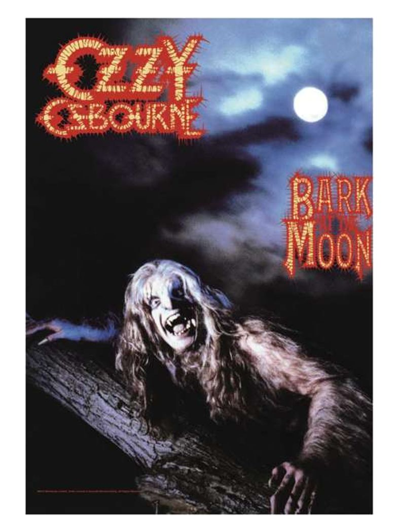 Ozzy Osbourne Poster Fahne Bark at the Moon