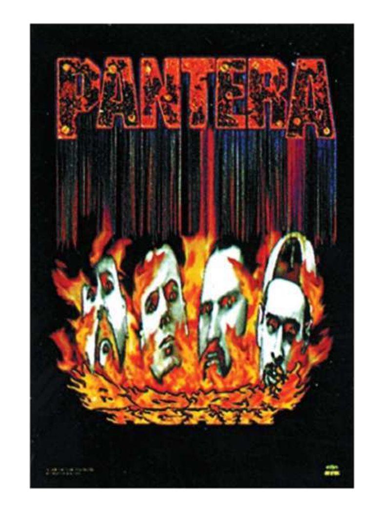 Pantera Poster Fahne Faces
