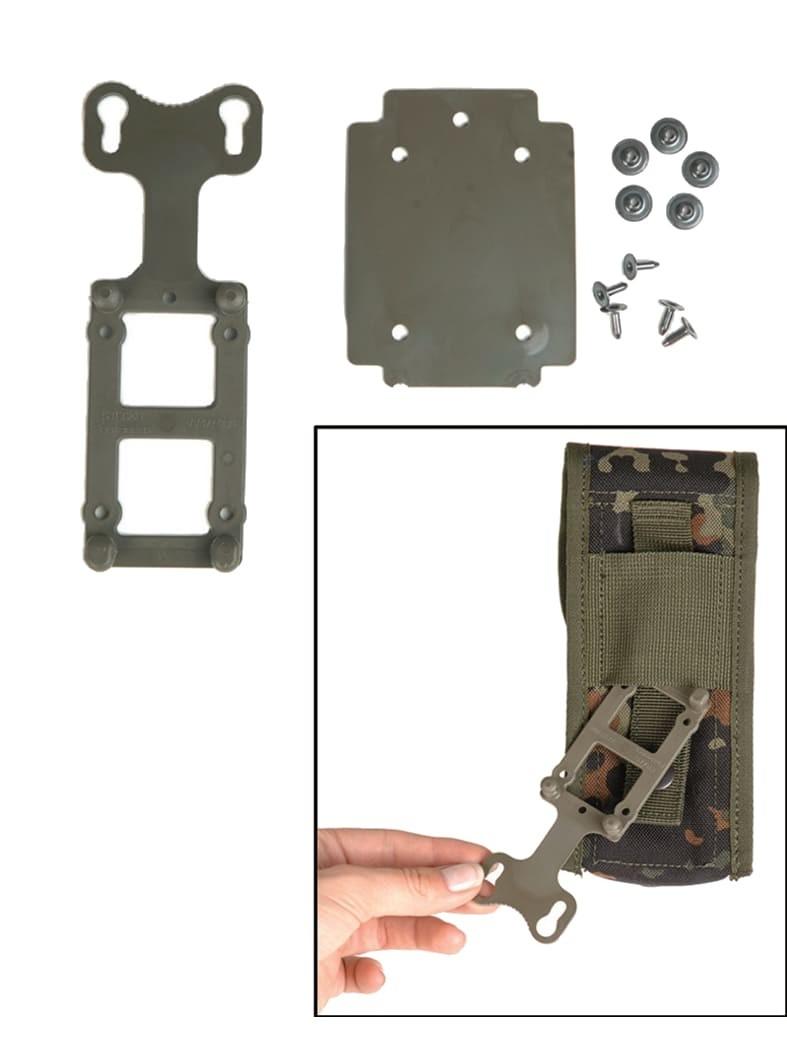 2 Bundeswehr Adapter Platten für Koppeltragesystem