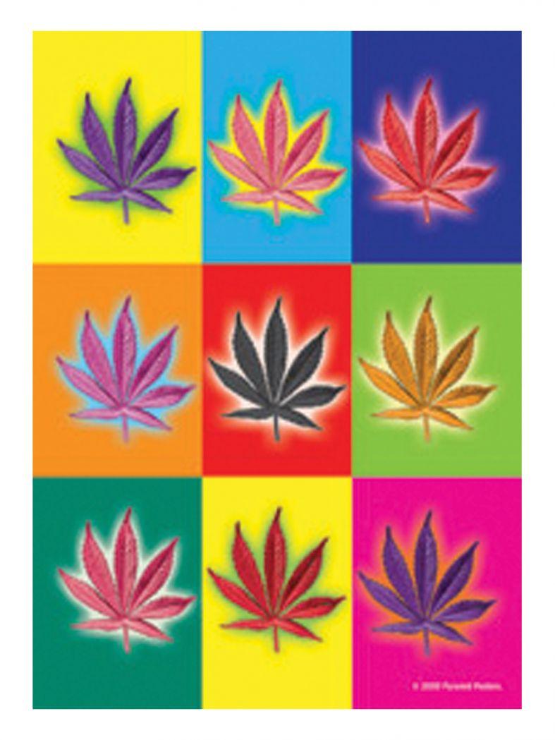 3 Drogen farbig Postkarten