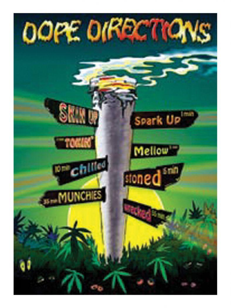3 Dope Directions Postkarten