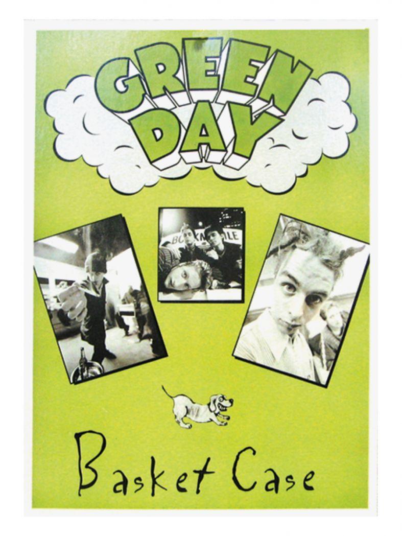 3 Green Day Basket Case Postkarten