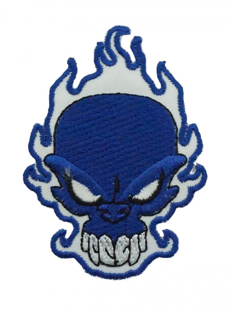 Aufnäher Skull blau