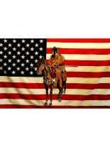 Fahne American Indian mit Pferd