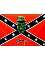 Fahne historisch Skull rot