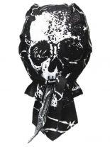 Bandana Cap Totenkopf mit Drähten