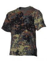 Kinder Militär T-Shirt flecktarn