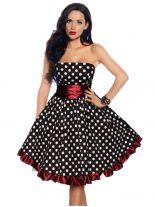 Petticoat Rockabilly Kleid rot mit weißen Punkten