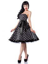 Petticoat Rockabilly Kleid mit weißen Punkten