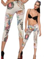 3/4 Leggings crazy weiß
