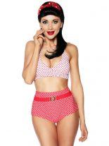Rockabilly Style Wende Bikini rot weiß mit Punkte