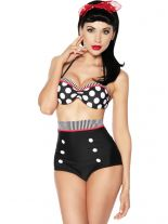 Rockabilly Style Push Up Bikini Punkte